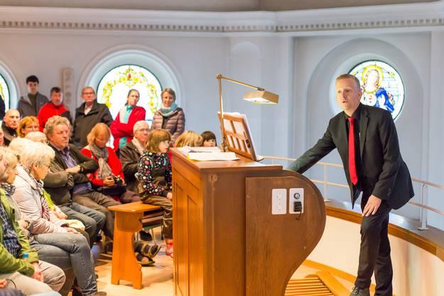 «Die Orgel von Schneisingen» - Führung von Orgelexperte Bernhard Hörler Impressionen vomKulturerbetag in Schneisingen