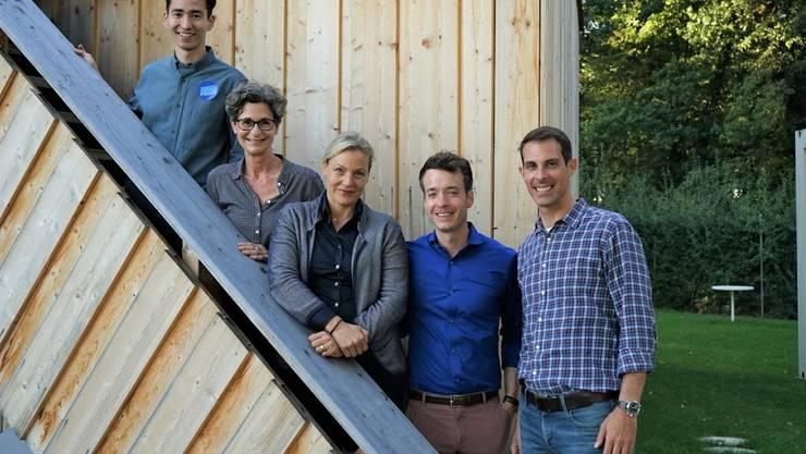 Yannick Berner, Sabina Freiermuth, Gina Kern, Adrian Schoop und Thierry Burkart