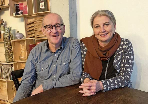 Thomas und Madelaine Passerini, Vereins-Co-Präsident und Produktionsleiterin.