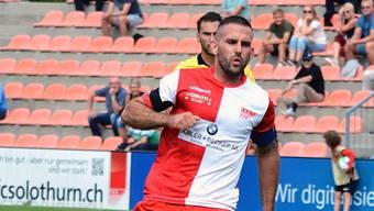 Loic Chatton und der FC Solothurn kommen gegen den FC Buochs nicht über ein 1:1 hinaus.