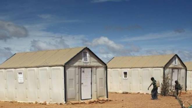 Flüchtlingshäuser von Ikea. Foto: ho