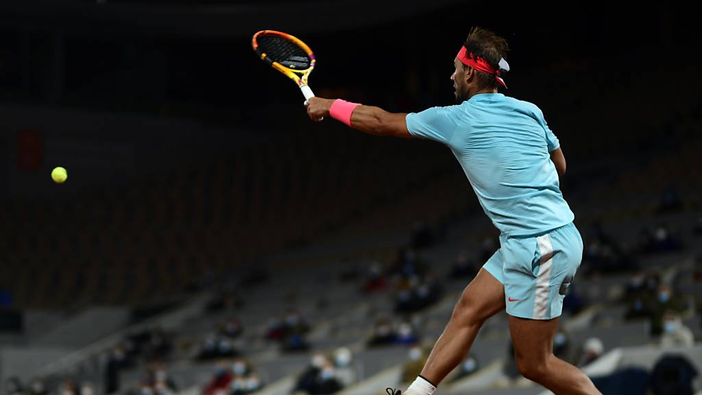 Rafael Nadal drängt Diego Schwartzman in die Defensive