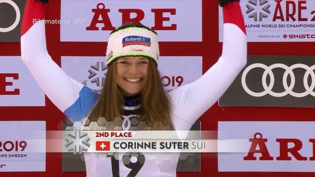 Corinne Suter fährt aufs Podest / Wer hat die besten Fans?