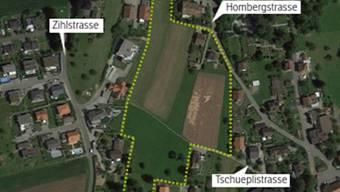 Für das gelb markierte Gebiet Tschuepli wurde ein Gestaltungsplan erstellt.