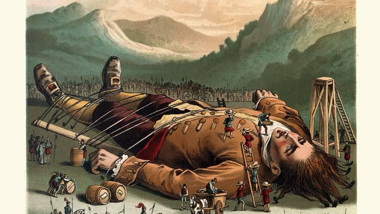 Gullivers Reisen - das bekannteste Buch von Jonathan Swift, ist viel mehr als ein Kinderbuch, sondern eine böse Satire auf die Engländer.