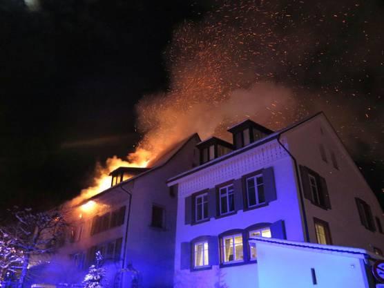 Die Feuerwehr löschte den Brand rasch.
