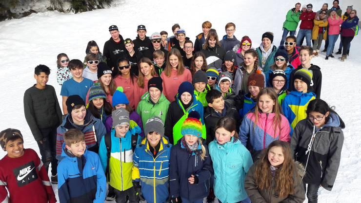 Gruppenbild Skilager Wölflinswil und Oberhof