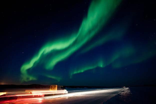 Der Yellowknife-Sonnensturm von 2012