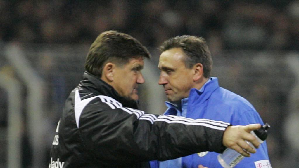 Zu Beginn seiner Trainerkarriere war Valdas Ivanauskas (rechts) in Deutschland bei Carl Zeiss Jena engagiert.