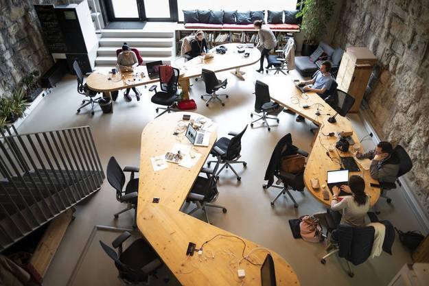 Coworking Space am Impact Hub in Zürich.