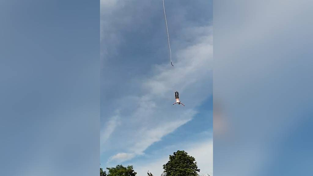 Horror-Unfall beim Bungee-Jumping: Seil reisst bei 90-Meter-Sprung