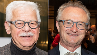 Bruno Hüppi (links) tritt als CVP-Bezirkspräsident ab. Danilo Follador übernimmt das Amt.