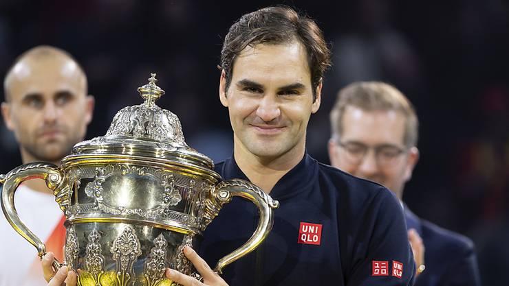 Roger Federer gewann in Basel vor einem Jahr zum neunten Mal.
