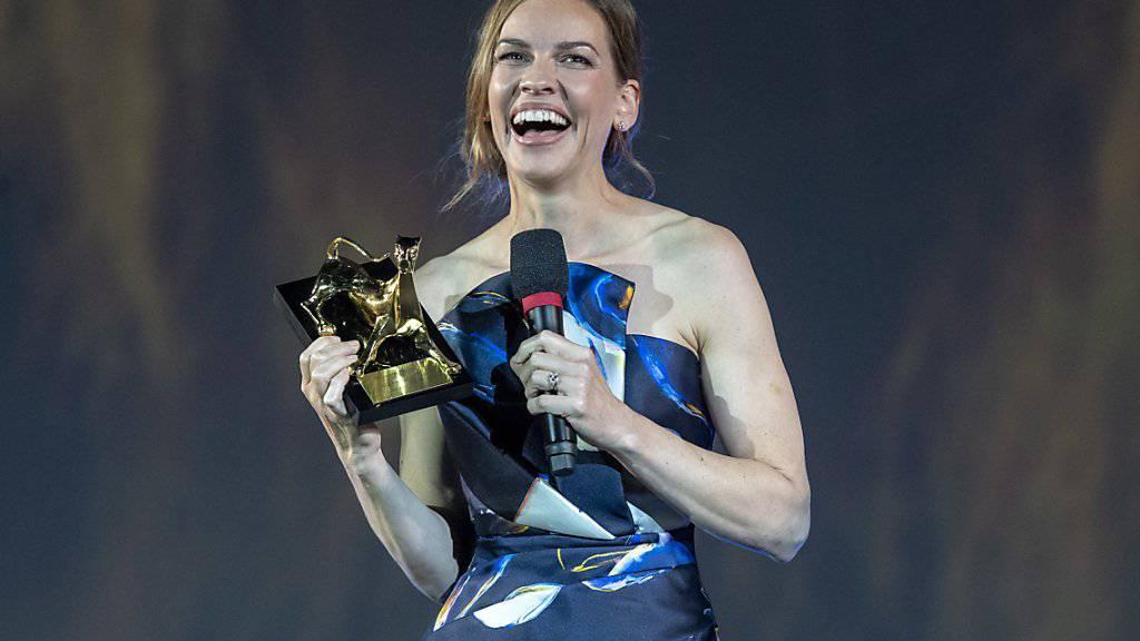 Ehrenpreis für Hilary Swank in Locarno