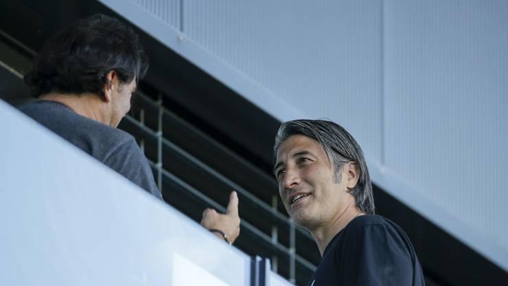 Können es gut miteinander: Klub-Eigentümer Roland Klein (links) und Cheftrainer Murat Yakin.