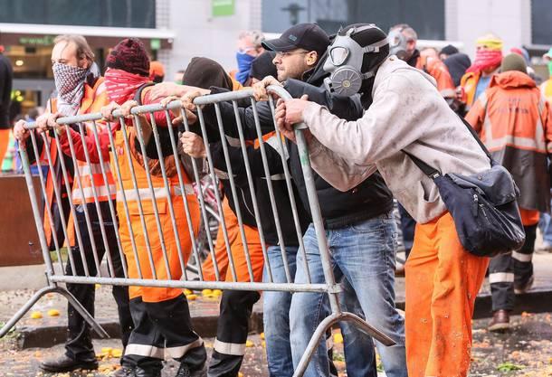 Strassenschlacht an Demo in Brüssel