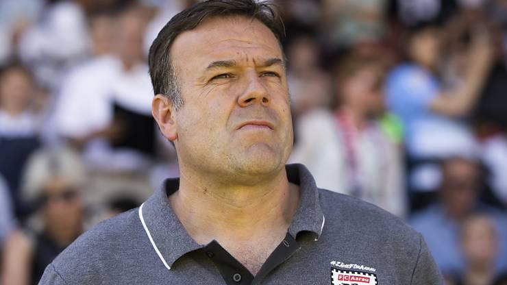 Er würde mit dem FC Aarau am liebsten Aufsteigen: Patrick Rahmen.