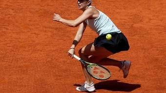 Belinda Bencic bot auch gegen Simona Halep eine über weite Strecken starke Leistung, zog gegen die Rumänin aber den Kürzeren