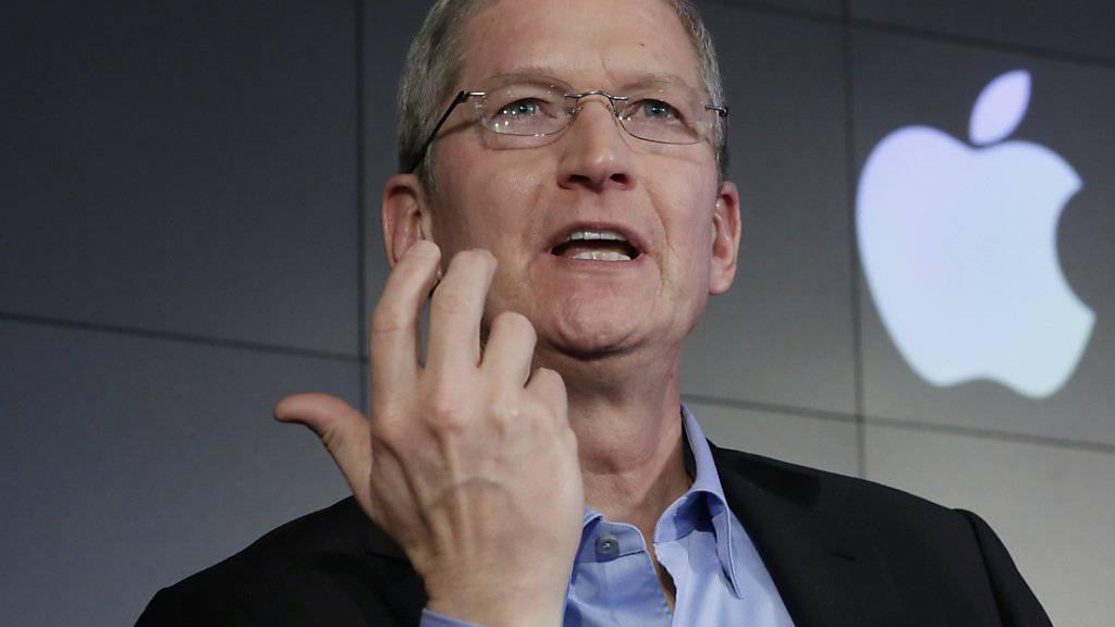 Apple-Chef Tim Cook zum Steuerentscheid der EU-Kommission: «Ich bin überzeugt, dass es eine politisch motivierte Entscheidung war.»