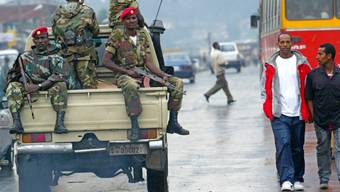 Äthiopische Soldaten in den Strassen von Addis Abeba (Archiv)