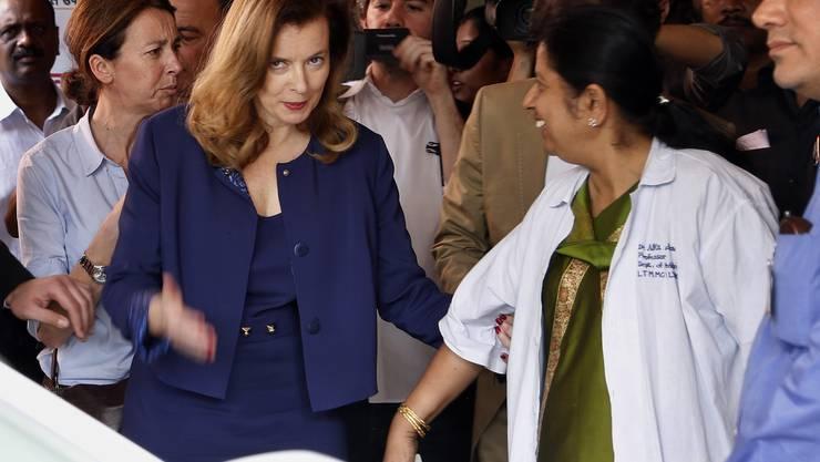 Die Journalistin hat am Montag im Sion-Spital in Mumbai Patienten getroffen, die wegen Unterernährung eingewiesen worden sind.