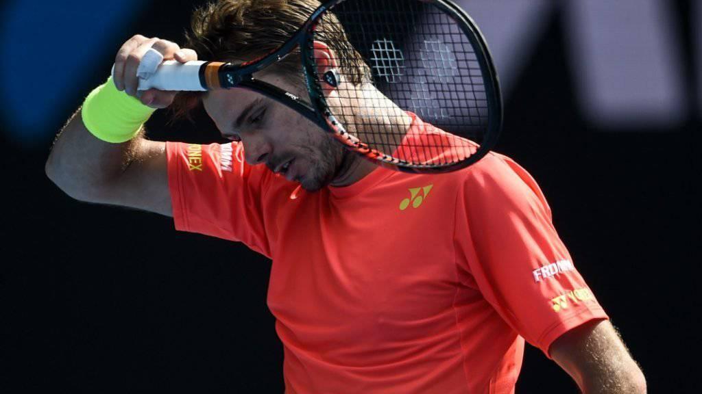 Frust: Stan Wawrinka verlor in Marseille nach fast zweistündigem Kampf