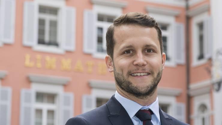 Lorenz Diebold ist Direktor des Hotels Limmathof in Baden.