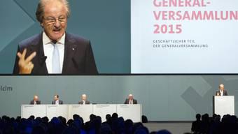 Holcim-Präsident Wolfgang Reitzle spricht an der GV in Zürich