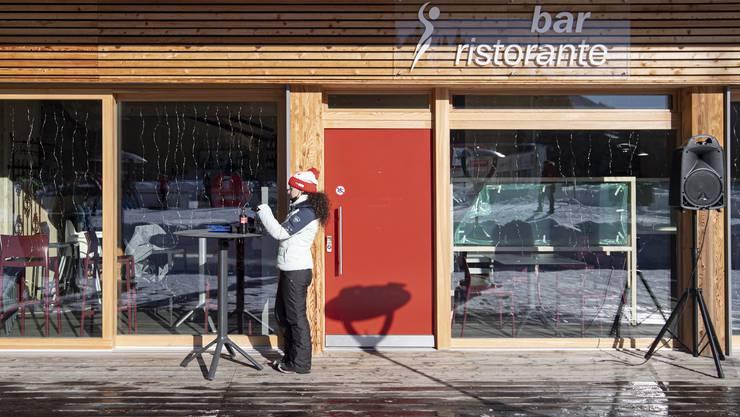 Kleine Pause im Skigebiet San Bernardino: Die Schutzmassnahmen hätten gut funktioniert, melden die Touristiker.
