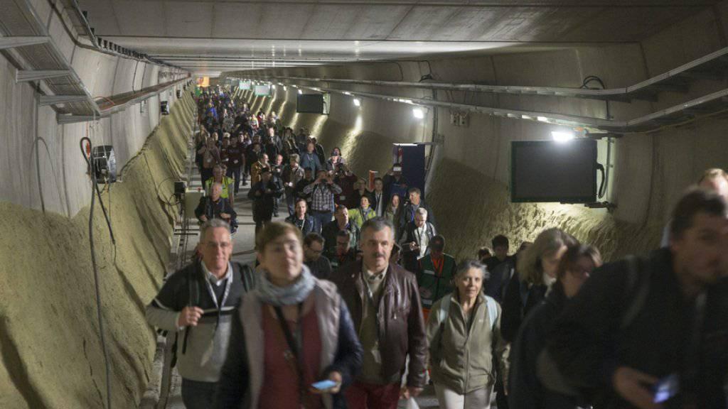 Für evakuierte Passagiere hat es genügend Platz im Gotthard-Basistunnel.
