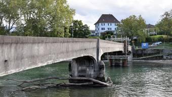 Die Brücke wurde im September stabilisiert.