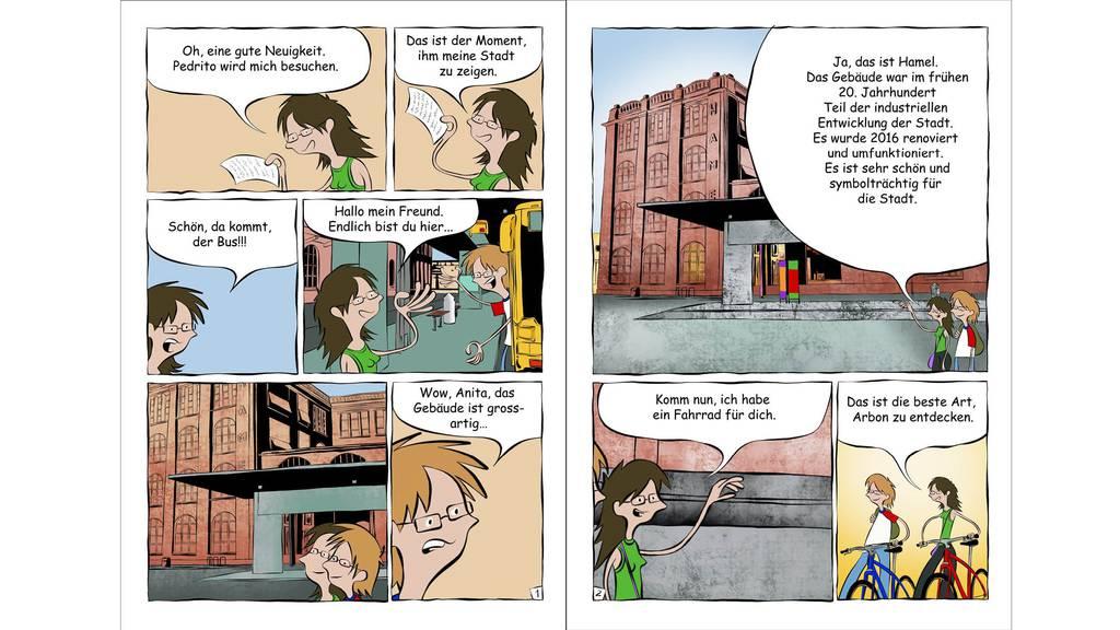 Die ersten zwei Seiten des Comics über Arbon. (Bild: zVg)