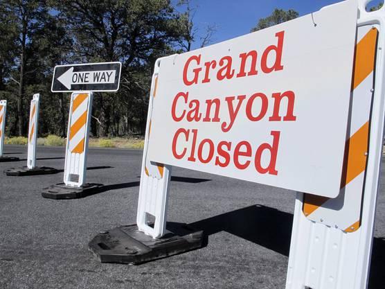 Grand Canyon war aufgrund des Shutdowns geschlossen