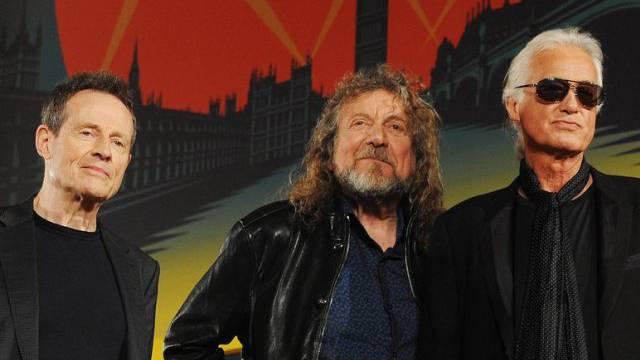Led-Zeppelin-Musiker John Paul Jones, Robert Plant and Jimmy Page
