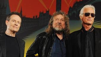 Led-Zeppelin-Musiker John Paul Jones, Robert Plant and Jimmy Page