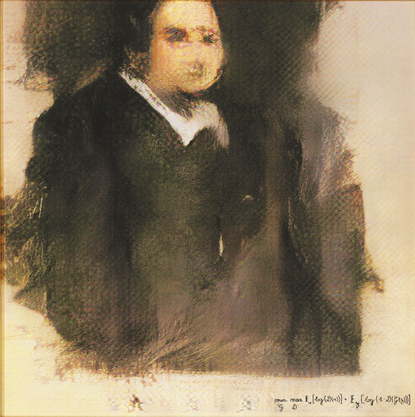 Das Bild «Edmond de Belamy» ist das erste Kunstwerk, das von künstlicher Intelligenz gemalt wurde. Im Jahr 2018 wurde es für mehr als 400 000 US-Dollar verkauft.
