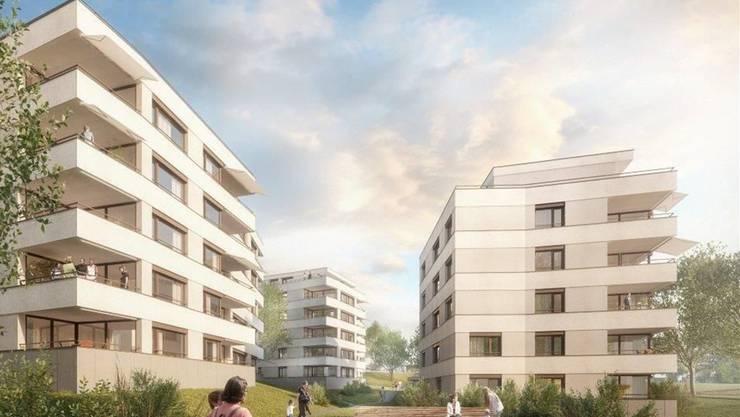Visualisierung: So soll das alte Kuhn-Areal in Niederrohrdorf einmal aussehen. zvg