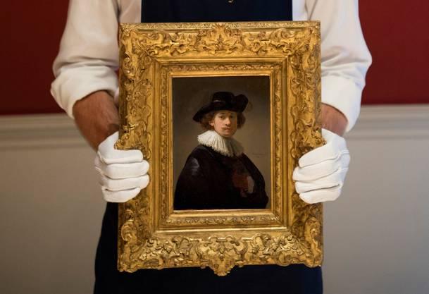 Klein aber teuer: Rembrandts Selbstporträt löste 18,7 Mio. Dollar.