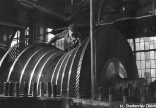 Niederdruckteil von Dampfturbine 55'000 kW W 49 1951