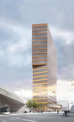 Auch der Andreasturm wird mit 80 Metern Höhe das Stadtbild von Oerlikon verändern.