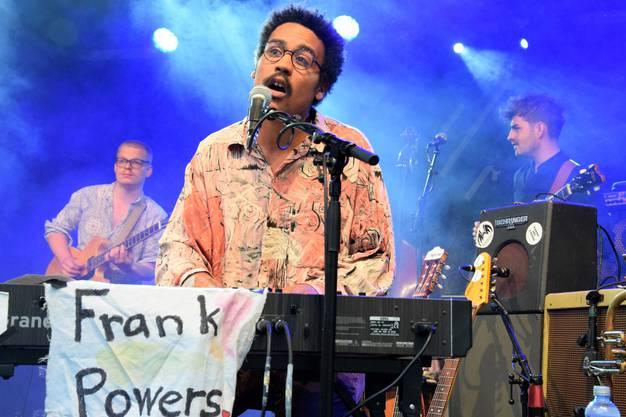 Frank Powers mit Frontmann Dino Brandao spielen auf der Jäggi-Bühne in der Hofstatt.