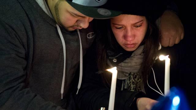 Kerzen für die Opfer des Angriffs