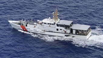 Schiff der US-Küstenwache vor Florida: Bevor sich Kuba und die USA weiter annähern, versuchen Kubaner noch in die USA zu gelangen. Die USA melden einen Anstieg von Ankömmlingen. (Archivbild)