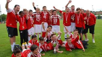 Von den Kleinsten bis zu den Grössten spielen sie in allen Kategorien um den Solothurner Cup. (Hier im Bild die FE12 des FC Solothurn)