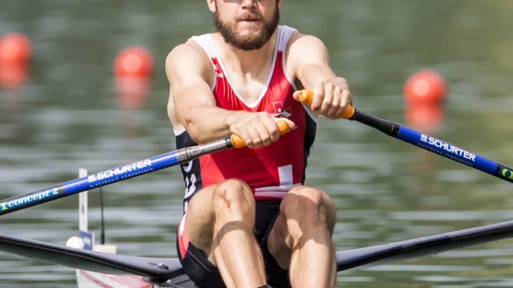 Michael Schmid ruderte erneut auf den 2. Platz
