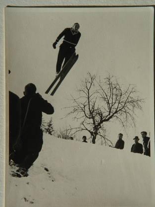 Skispringer trafen sich am Hasenberg.