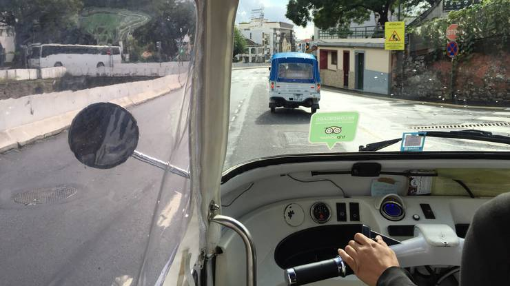 mit dem E-Tuktuk durch Funchal