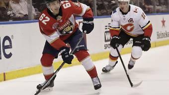 Denis Malgin, der Schweizer Stürmer in Diensten der Florida Panthers, erzielte in der Nacht auf Montag sein 7. Saisongoal