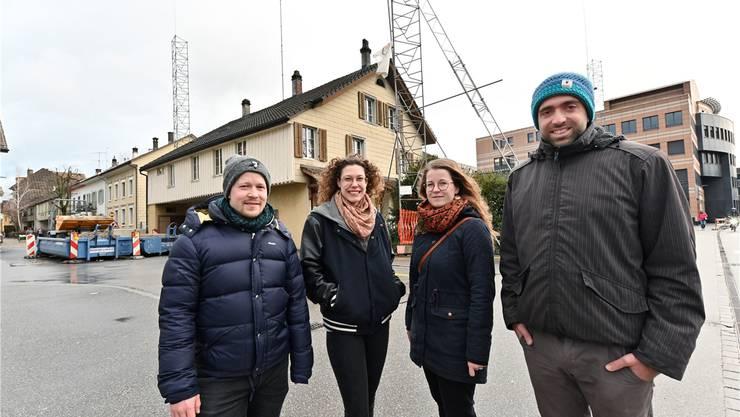 Sie haben die Eingaben bei der Mitwirkung gemacht (von links): Mischa Kaspar, Natascha Thomi, Anna Kaspar und Raphael Schär.