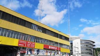 Die Profile des Hochhauses, das auf dem ehemaligen Industrieareal gebaut werden soll.